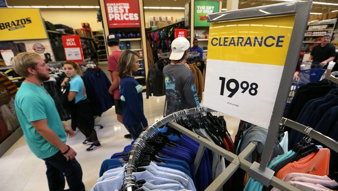 Academy Sports + Outdoors is filled with deal seekers on Black Friday, Nov. 25, 2016.