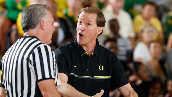 Oregon Ducks coach Dana Altman.