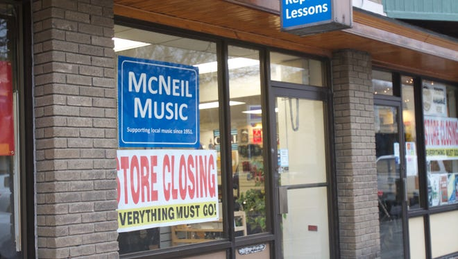 McNeil Music of Ithaca will be closing its music equipment store on Jan. 31.