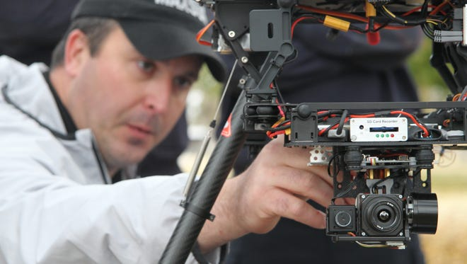 The A2 drone is equipped with a multiple cameras, including a heat sensor camera, which will allow emergency personnel to observe scenes in a variety of ways.