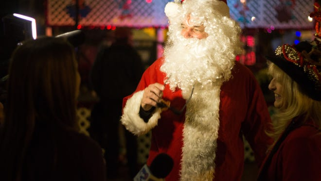 All Santa's missing is his Coca-Cola! The 30th Annual Winter Festival, A Celebration of Lights, Music & the Arts, brought the holiday spirit to the streets of Tallahassee, FL on Dec. 3rd, 2016.