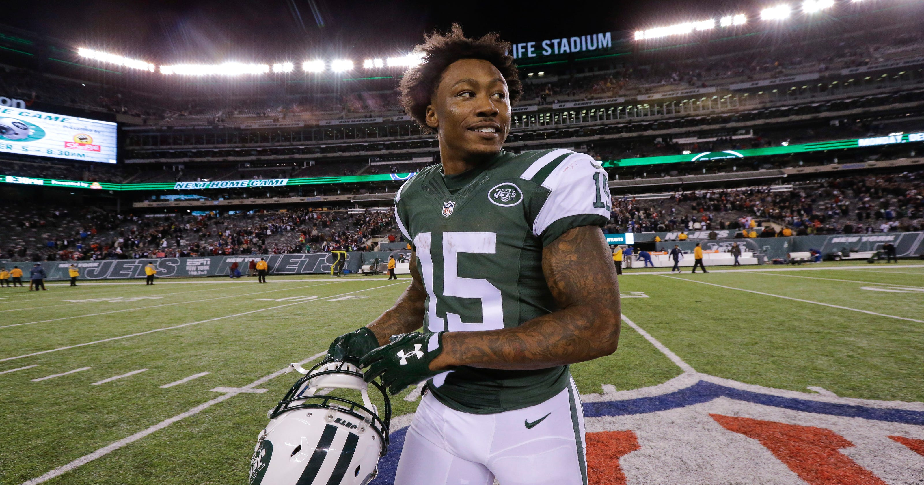 wholesale dealer 31f3d 76271 Jets' Brandon Marshall wary of Dolphins' fishy defense