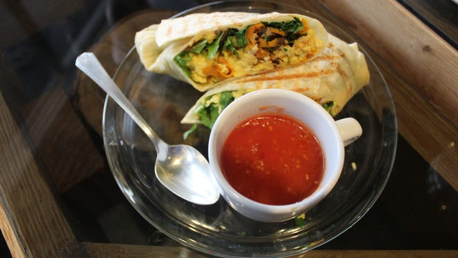 The Brunch Wrap with salsa