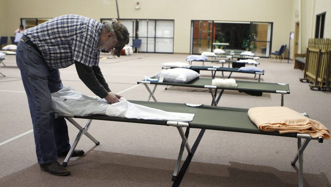 The East Sunshine Church of Christ operates an emergency cold weather shelter, shown in this January 2011 file photo, for homeless men. There is currently no such shelter for women in Springfield.