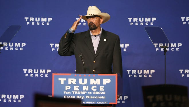 Milwaukee County Sheriff David A. Clarke Jr. was one of the speakers at a Green Bay appearance in October by Donald Trump.