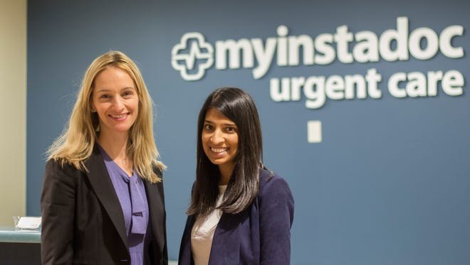My InstaDoc Urgent Care in Monroe is the latest of more than 100 small businesses across New Jersey that received SBA funding from M&T Bank this fiscal year. Pictured are Beth McCarter, left, regional manager at M&T, and Komal Desai of My InstaDoc Urgent Care.