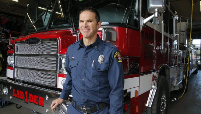 Salinas Fire Capt. Skylar Thornton received the Salinas Firefighter of the Year.