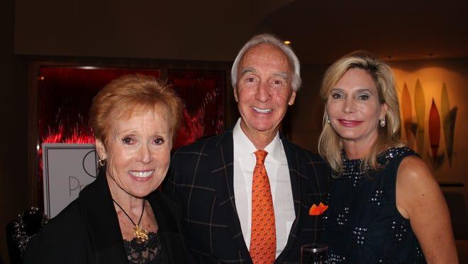 JFS Board President Barbara Fromm; Patron Party Hosts Justin & Jan Baldwin