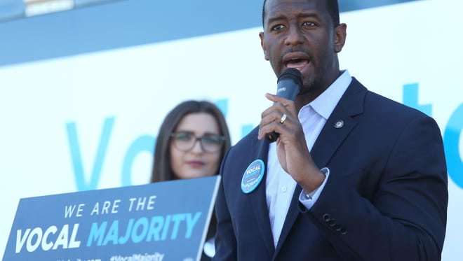 Mayor Andrew Gillum is considered among a group of potential Democratic candidates for governor. Local Republicans accuse him of grandstanding on gun issues.