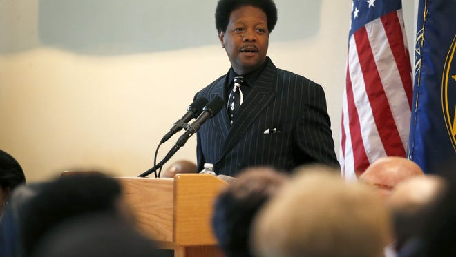 Leon County Commissioner Bill Proctor speaks during last year's event in honor of Dr. Martin Luther King Jr.