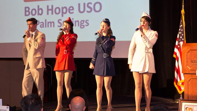 The USO Show Troupe Singers from New York.