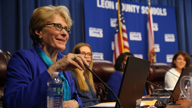 Rosanne Wood, who was sworn in to her seat on the Leon County School Board in November, spoke out against the use of classroom instructional time to have students test devices used for state testing.