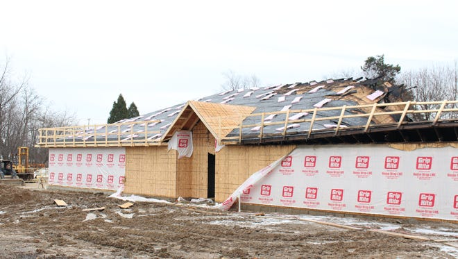 A county building under construction sustained heavy damage after a fire Sunday, Jan. 15, 2017. According to property records, the Richland County Mental Health and Recovery Services Board owns the building.