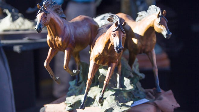 Bronze sculptures, vases and many more works of art at Carefree Fine Art and Wine Festival.