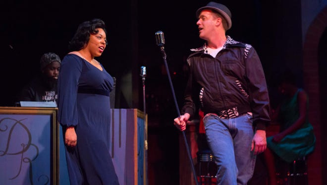 "Tiara Greene and Matt Reher in ""Memphis"" at the Ritz Theatre Company."