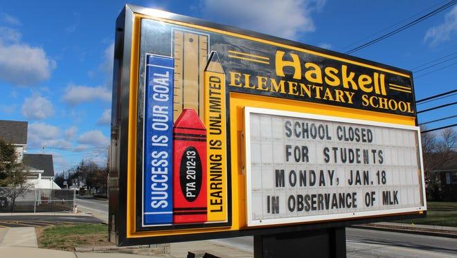 Haskell Elementary School on Ringwood Avenue in Wanaque.