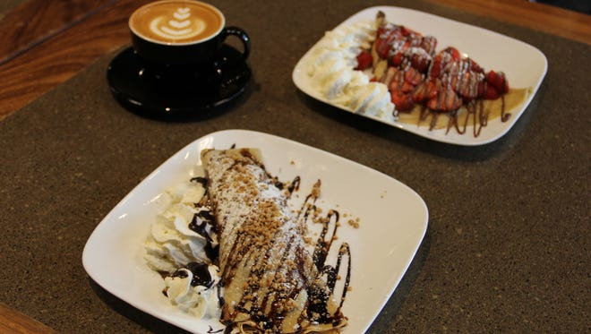 French Press serves fresh roasted coffee and from-scratch crepes stuffed and drizzled with fruit and chocolate.