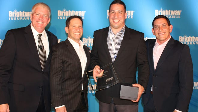 Talman Howard, president of Brightway; David Miller, founder and chairman; Vincent Zanfini of The Barletta Agency; and Michael Miller, vice chairman