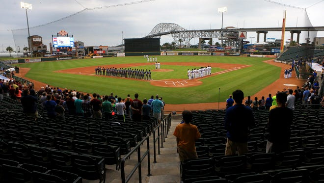 Moody and Flour Bluff will meet in a District 30-5A South Zone baseball game at Whataburger Field on March 7.