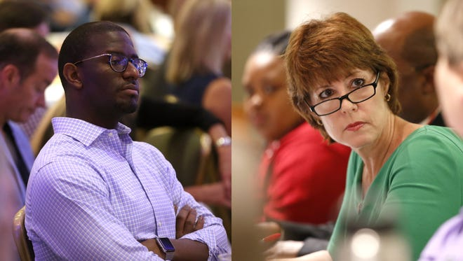 Andrew Gillum, left, and Gwen Graham, right, are both running for Florida governor.