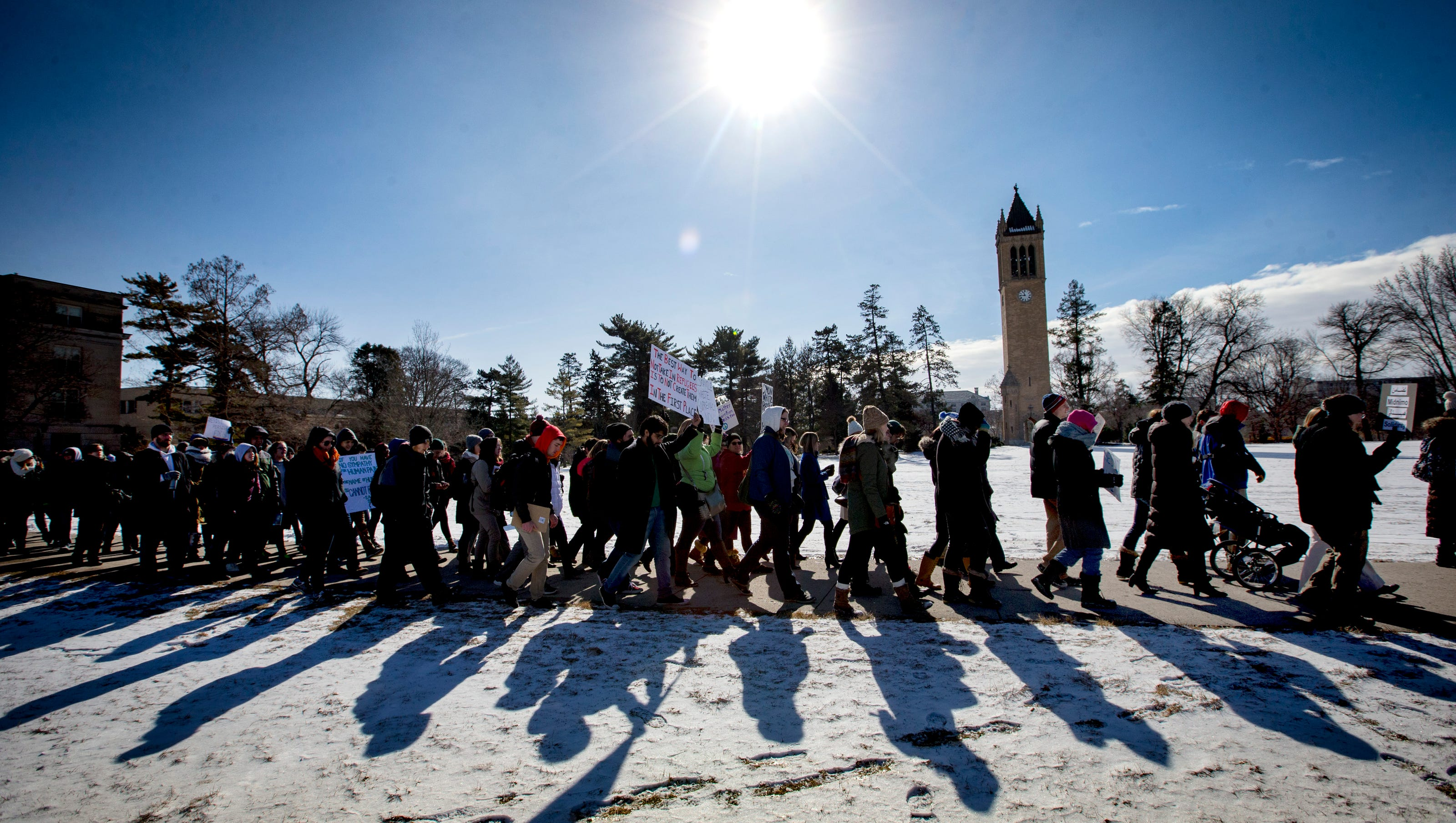 Solidarity March At Isu Offers Support Amid Trump S Orders