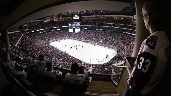 The Arizona Coyotes currently play at Gila River Arena in Glendale.