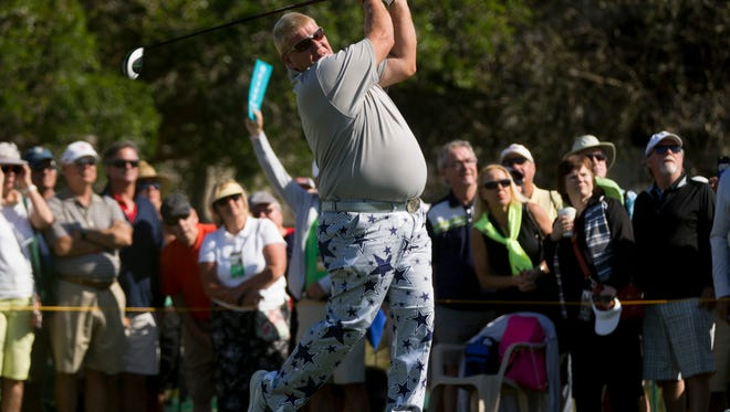 PGA Tour Pro John Daly during the first round of the Chubb Classic at TwinEagles Club Friday, Feb. 17, 2017 in Naples.