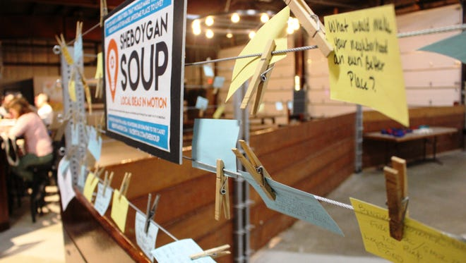 Sheboygan Soup (Support Our Urban Projects) is a crowdfunding event offering an opportunity for civic innovation by bringing the community together to share ideas for how to better the community.