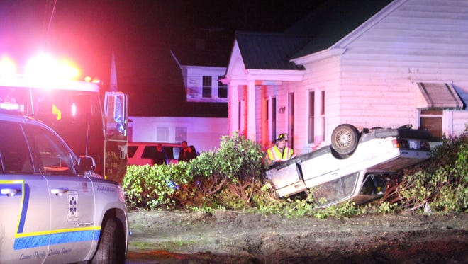 A car crashed into a home late Wednesday night on Lighthouse Road in Selbyville. Delaware State Police is investigating the crash.