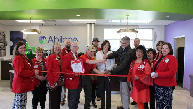 Grand opening of new location of Abilene Federal Credit Union on Feb. 16.