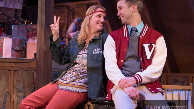 """Kimberly Suskind and Adam Hoyak star in """"John and Jen"""" at the Eagle Theatre through Sunday, April 9."""