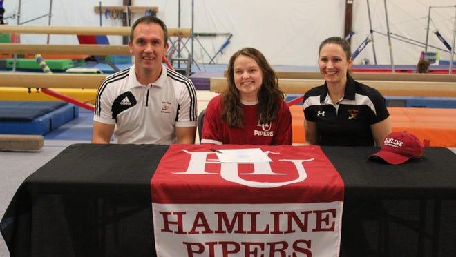 Smoky Mountain senior Mary Kelly has signed with the Hamline University (Minn.) gymnastics program.