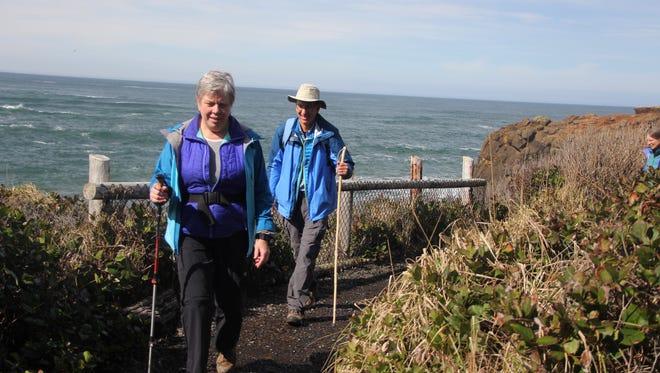 Connie Soper and Dan Hilburn are advocates for connecting the Oregon Coast Trail.
