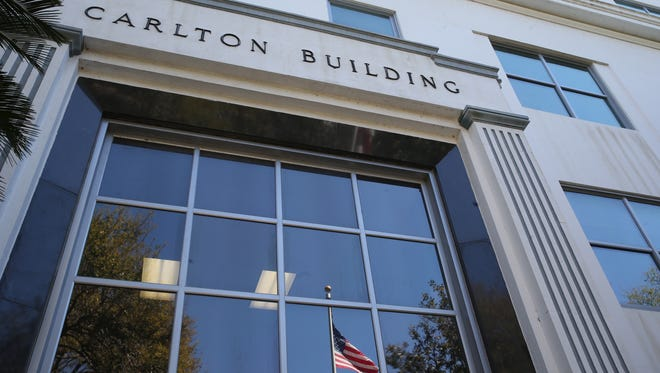 The Carlton Building is in downtown Tallahassee.
