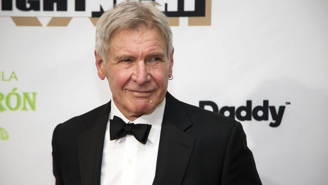 Honoree Harrison Ford on the red carpet for Celebrity Fight Night on Mar. 18, 2017 at JW Marriott Desert Ridge Resort & Spa in Phoenix, Ariz. The event benefits the Muhammad Ali Parkinson Center at Barrow Neurological Institute and other charities.