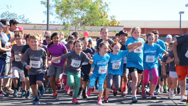 Children start the one-mile fun run at the 2016 Hope4Kids Festival and Run in Camarillo.