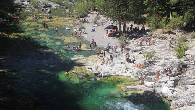 A fire started in the Three Pools area on Sunday. This is a stock photo of Three Pools, and was not taken Sunday.