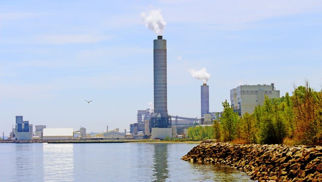We Energies' coal-fired Oak Creek Power Plant is seen in 2014.