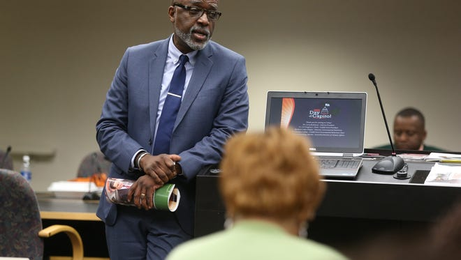 Michael Thompson, dean of the FAMU College of Pharmacy and Pharmaceuticals Sciences, says an action plan is in place to address  poor test results on national pharmacy exam.