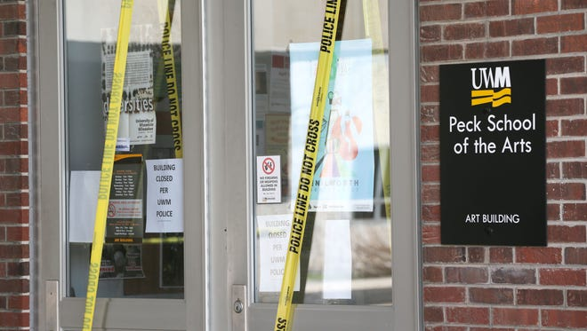 A fire starting in the scene shop of the theater area of UWM's Peck School of the Arts caused extensive damage, forcing students to find another location for their upcoming performance.