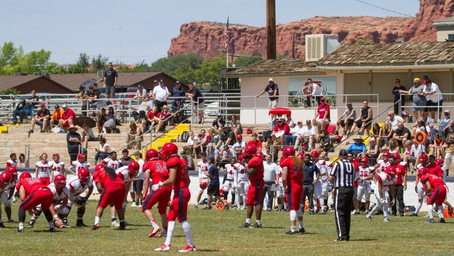 Dixie State football plays their Spring game at the SunBowl Saturday, April 15, 2017.