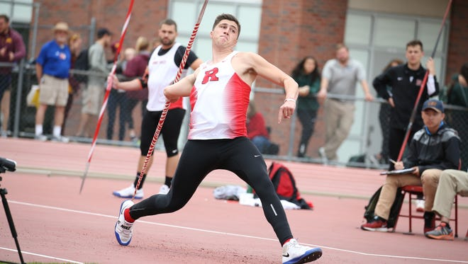 Chris Mirabelli won the Big Ten javelin title with a throw of 240-3 in 2016.