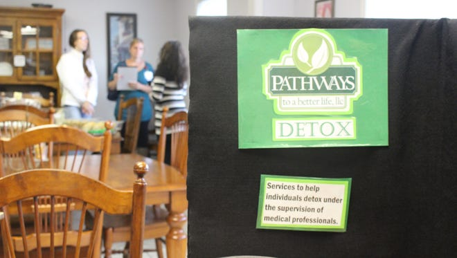Visitors talk with staff during an open house at a new detox facility opening in Waldo. Pathways to a Better Life, a substance abuse treatment center in Kiel, is opening the detox facility in Waldo.