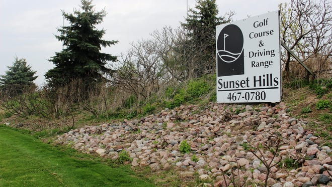 Sign for the Sunset Hills Golf Course as seen April 26, 2017, in Sheboygan Falls.