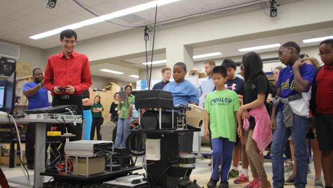 During Bring Your Children to Work Day at the FAMU-FSU College of Engineering, children of employees got to watch robot demonstrations.