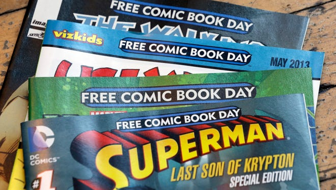 These were among the titles offered on Free Comic Book Day in 2013. The publishers this year are similar, but the titles are different.