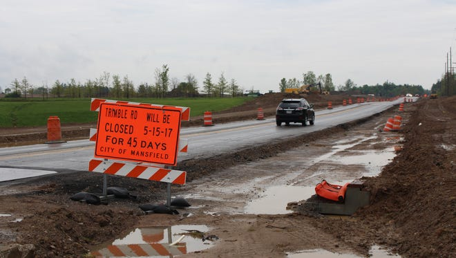 The city announced Thursday Trimble Road between Cook Road and Marion Avenue will be closed for 45 days starting May 15. The closure will allow for the shaving of about two feet from a hill in the roadway as part of a widening project of Trimble Road.