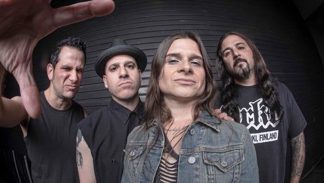 Life of Agony performs in Sayreville on Saturday. From left, Joey Z, Alan Robert, Mina Caputo and Sal Abruscato.