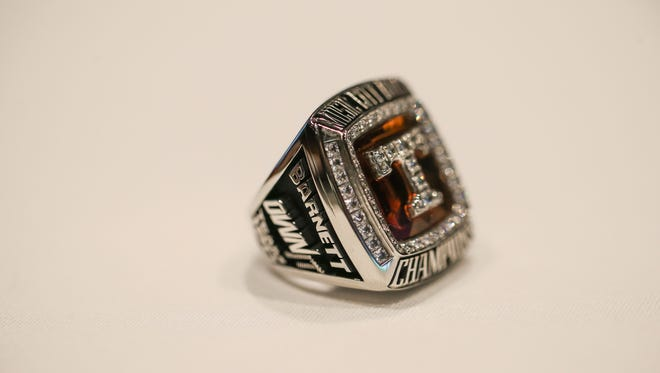 The Tennessee football team received rings for its Music City Bowl victory over Nebraska. It was the third straight year the Vols received rings for a bowl win.