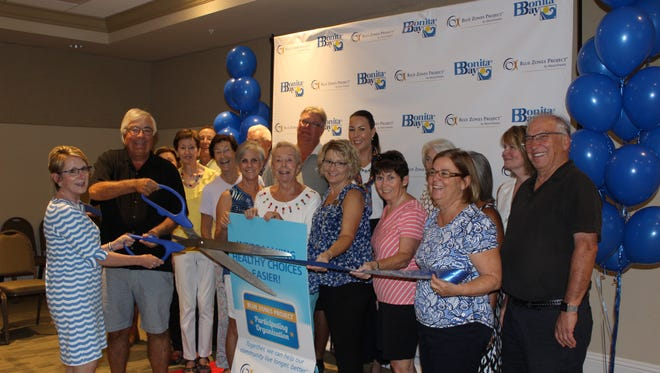 Bonita Bay residents celebrate Blue Zones Project recognition in May 2017.